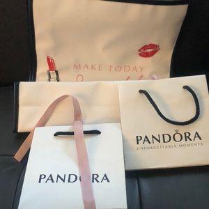 Pandora bags gift bag big bag is plastic